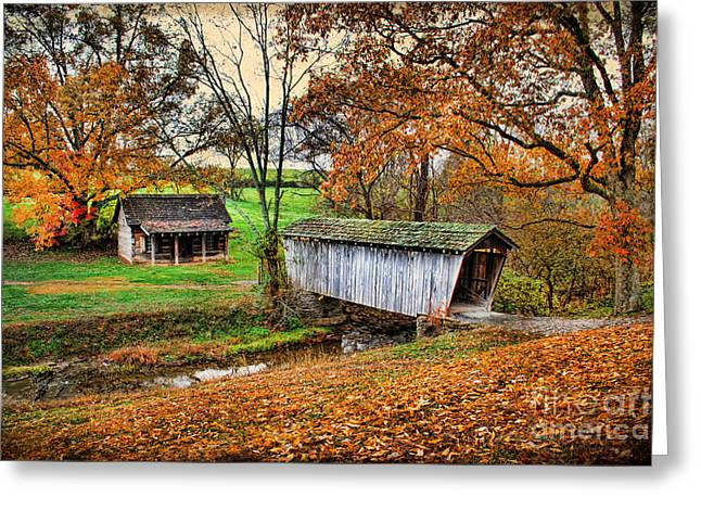 Covered Porch Greeting Cards - Lincolns Homestead Greeting Card by Darren Fisher
