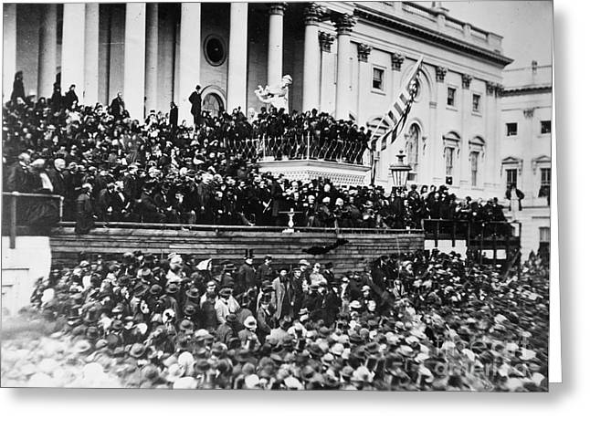 Inauguration Photographs Greeting Cards - Lincolns Inauguration, 1865 Greeting Card by Granger