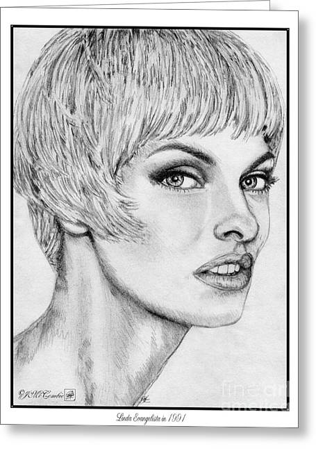 Linda Evangelista In 1991 Greeting Card by J McCombie