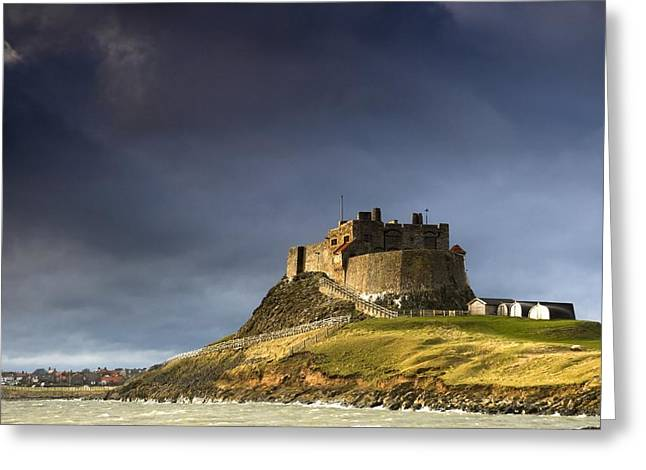 Bewick Greeting Cards - Lindisfarne Castle On A Volcanic Mound Greeting Card by John Short