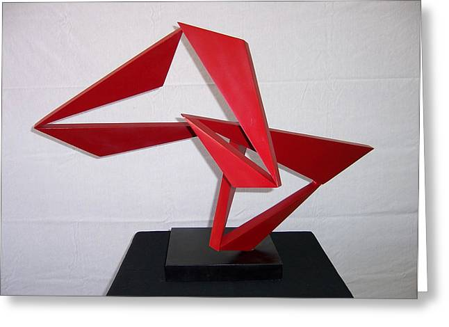 Abstract Movement Sculptures Greeting Cards - Lindy Greeting Card by John Neumann