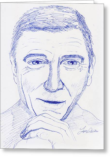 Sketch Greeting Cards - Lines and Cross Hatching Drawing Greeting Card by Jose Valeriano