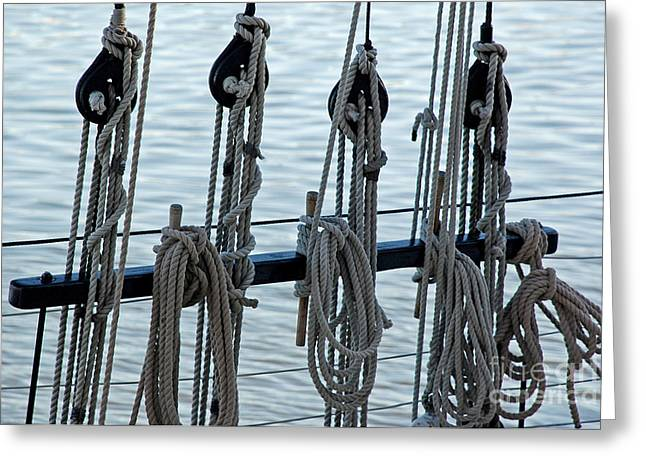 Square Rigger Greeting Cards - Lines Greeting Card by John  Fix