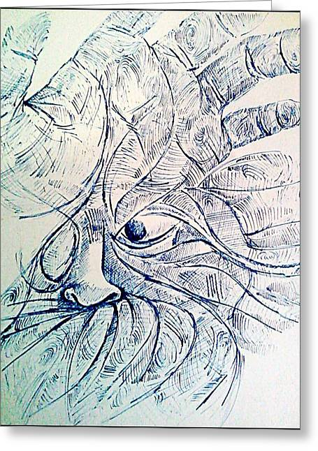 Indian Ink Mixed Media Greeting Cards - Lines of the Hands Greeting Card by Paulo Zerbato