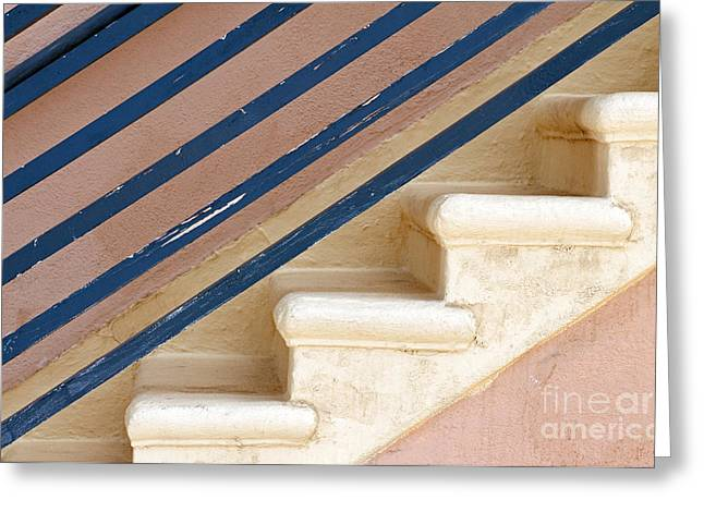 Stair-rail Greeting Cards - Lines Up Greeting Card by Dan Holm