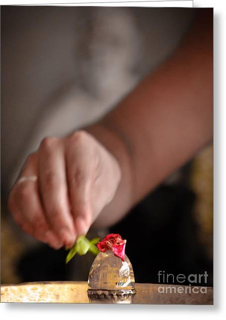 Lingam Greeting Cards - Linga Puja Greeting Card by Dev Gogoi