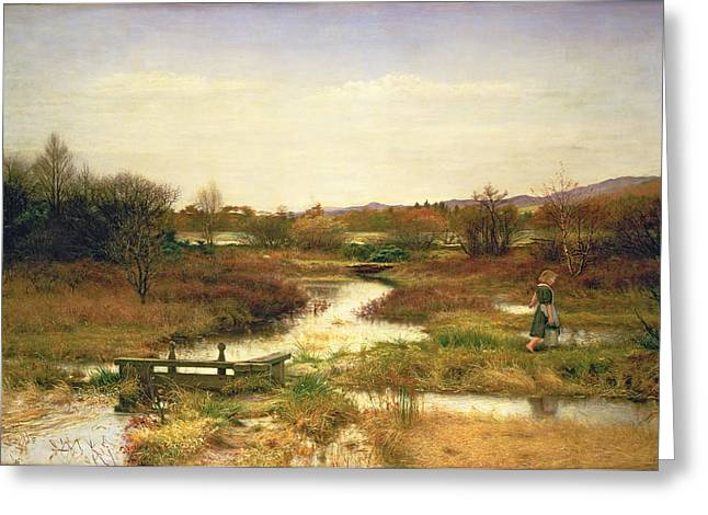 Bog Greeting Cards - Lingering Autumn Greeting Card by Sir John Everett Millais