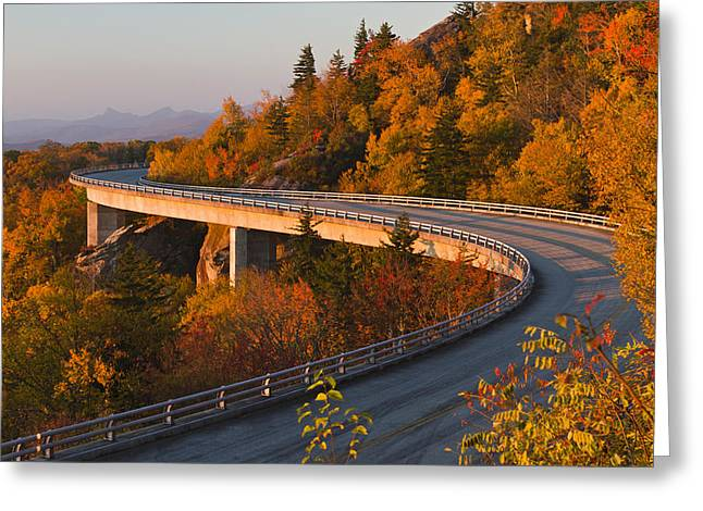 National Park Service Greeting Cards - Linn Cove Viaduct on the Blue Ridge Parkway Greeting Card by Pierre Leclerc Photography