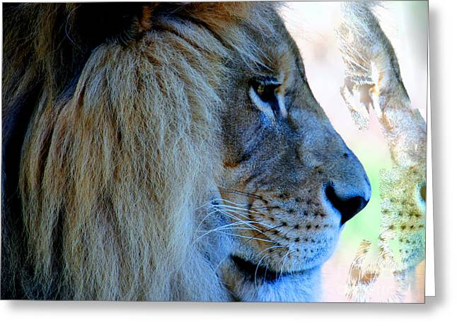 Tap On Photo Greeting Cards - Lion King Greeting Card by Tap  On Photo