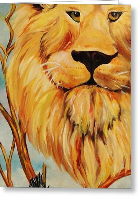 Fed Greeting Cards - Lion of Judah Greeting Card by Diana Kaye Obe