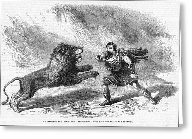 Lion Tamer, 1861 Greeting Card by Granger