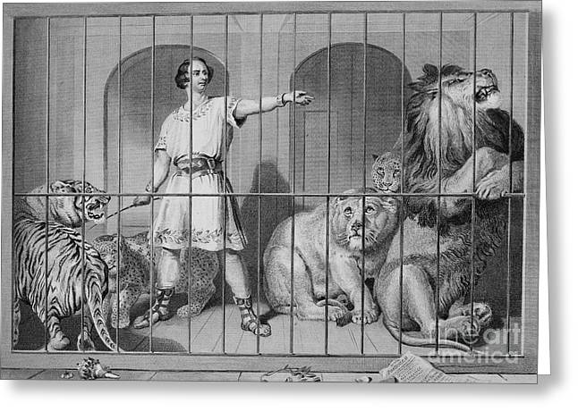 Lion Tamer, 19th Century Greeting Card by Granger