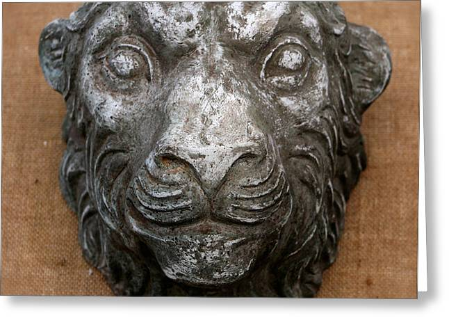 Lions Sculptures Greeting Cards - Lion Greeting Card by Vladimir Kozma