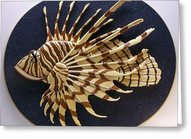 Fish Sculptures Greeting Cards - Lionfish Greeting Card by Annja Starrett