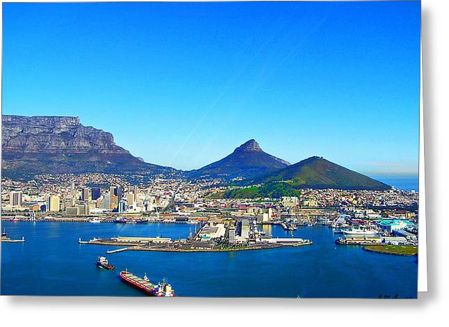 Cape Town Greeting Cards - Lions Head by Air Greeting Card by Michael Durst