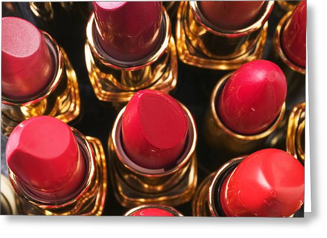 Lipstick Rows Greeting Card by Garry Gay