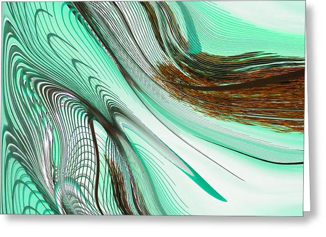 Photorealism Greeting Cards - Liquid Flow Greeting Card by Marcia Lee Jones