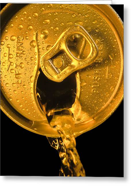 Pouring Pyrography Greeting Cards - Liquid Gold Greeting Card by Mauro Celotti