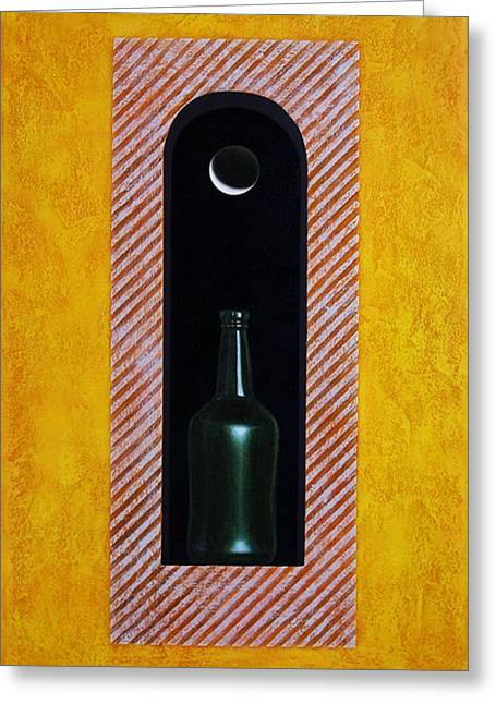 Bottles Greeting Cards - Liquid Moonlight Greeting Card by Horacio Cardozo