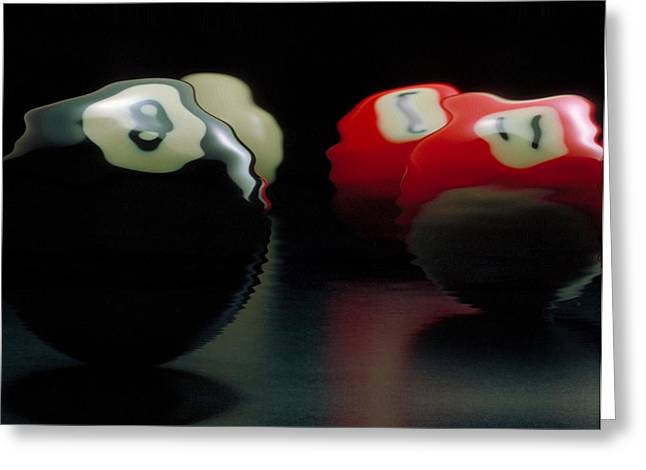 Pool Room Greeting Cards - Liquid Pool Greeting Card by Jerry McElroy