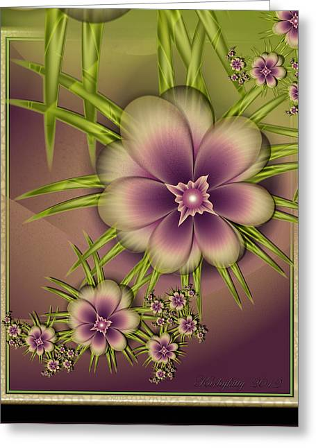 Karlajkitty Digital Art Greeting Cards - Lirulin Greeting Card by Karla White
