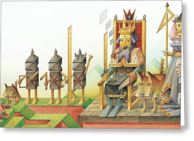King Greeting Cards - Lisas Journey 07 Greeting Card by Kestutis Kasparavicius