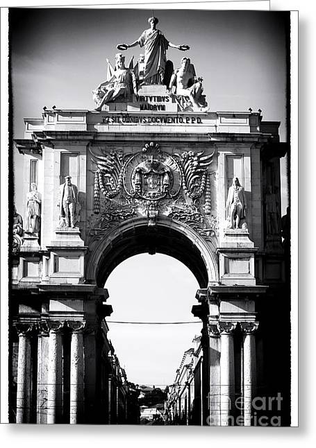 Lisbon Welcome Greeting Card by John Rizzuto