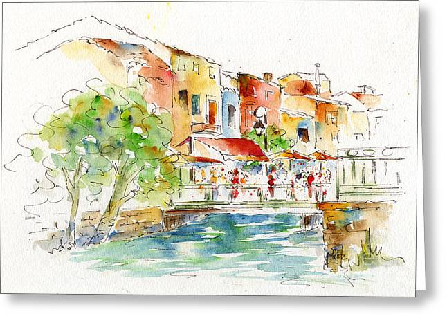 Pause Greeting Cards - LIsle Sur La Sorgue Greeting Card by Pat Katz