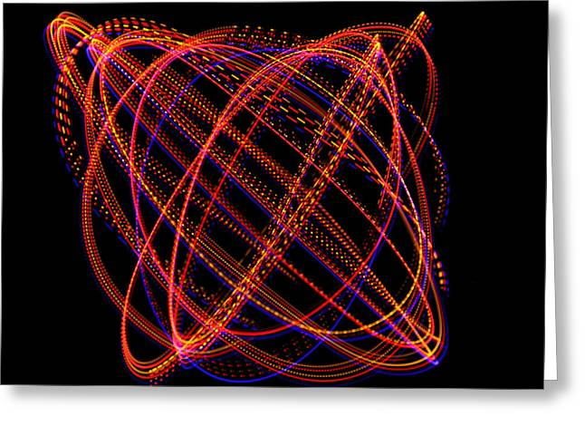 Harmonic Motions Greeting Cards - Lissajous Figure Greeting Card by Ted Kinsman