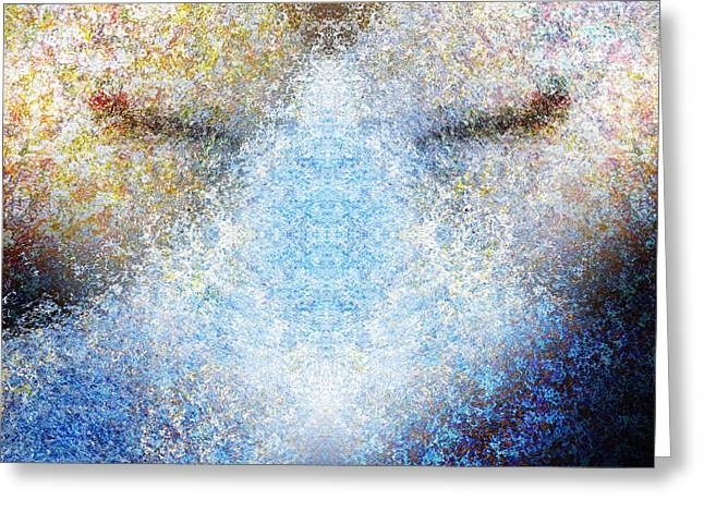 Designs On Face Greeting Cards - Listening Greeting Card by Christopher Gaston