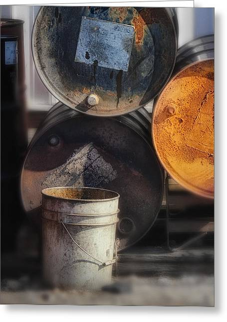Rust Bucket Greeting Cards - Listing Bucket Greeting Card by Donald Schwartz