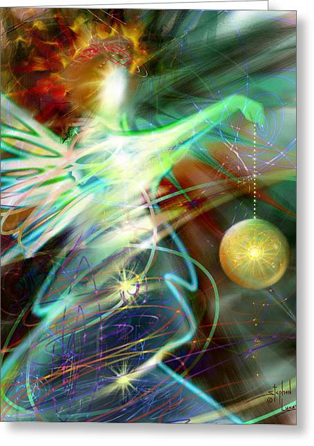 Spririt Greeting Cards - Lite Brought Forth by the Archkeeper Greeting Card by Stephen Lucas