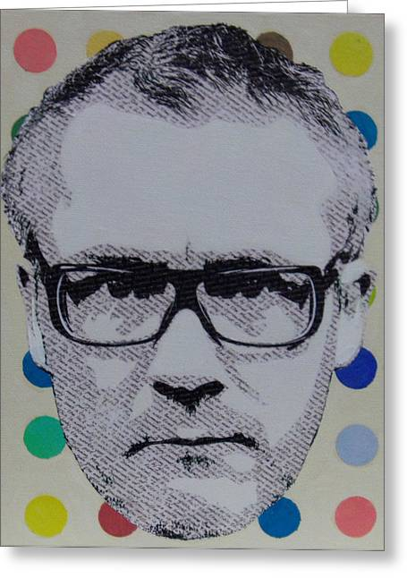 Hirst Greeting Cards - Literally Damien Hirst Greeting Card by Gary Hogben