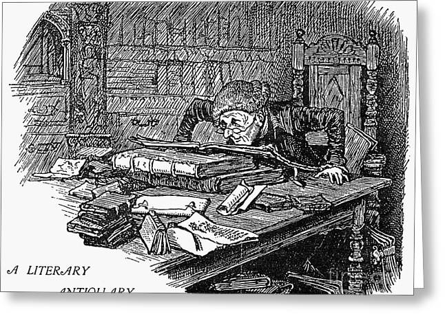 Antiquarian Greeting Cards - Literary Antiquary Greeting Card by Granger