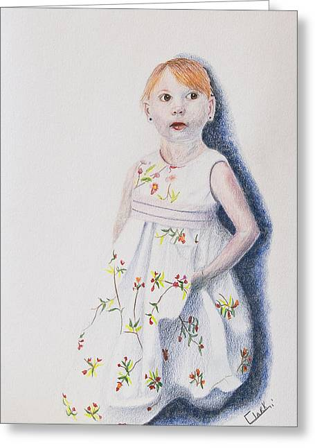 Characterization Greeting Cards - Little Angel Greeting Card by Wade Clark