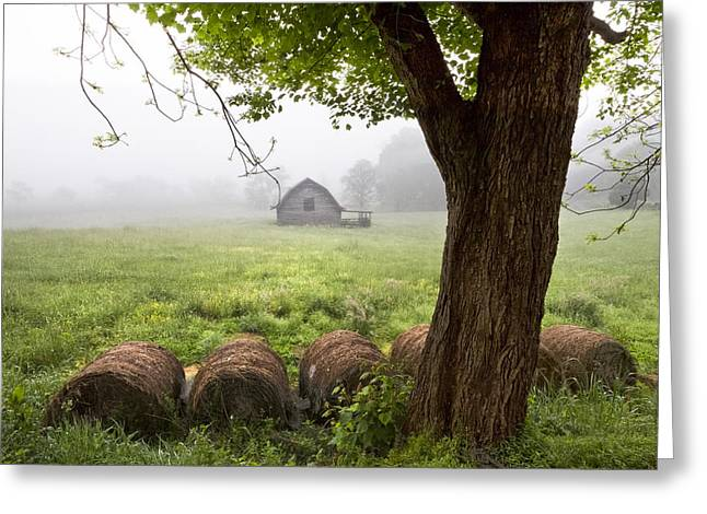 Little Barn Greeting Card by Debra and Dave Vanderlaan