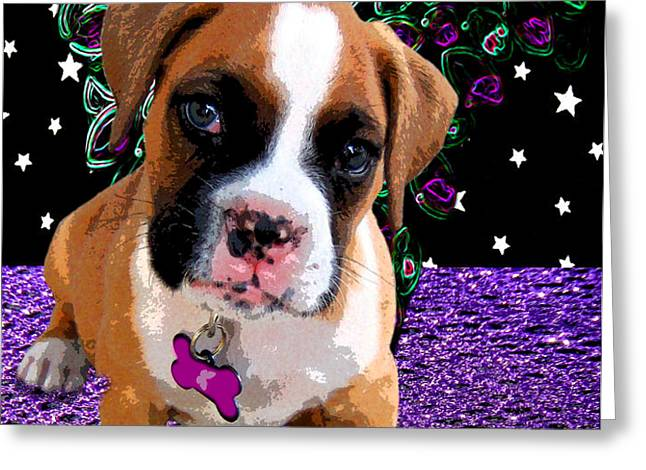 Little Boxer Butterfly Greeting Card by Tisha McGee