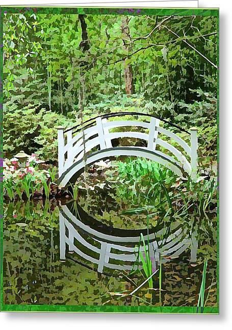Walk Paths Digital Art Greeting Cards - Little Bridge Greeting Card by Mindy Newman