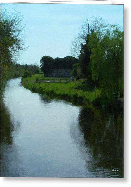 Irish Greeting Cards - Little Brosna River Riverstown Ireland Greeting Card by Teresa Mucha