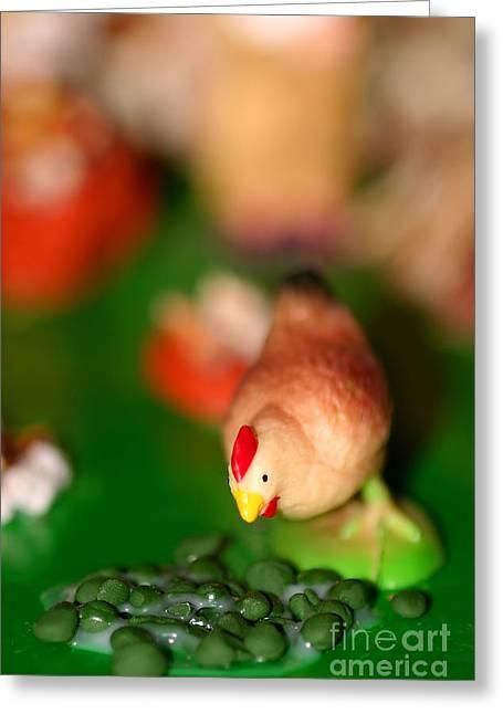 Barn Yard Greeting Cards - Little Chicken Greeting Card by Henrik Lehnerer