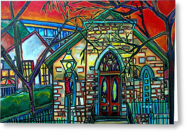 Little Church at La Villita Greeting Card by Patti Schermerhorn