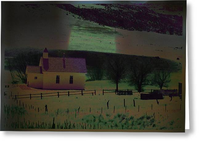Vale Greeting Cards - Little Church in the Vale Greeting Card by Lenore Senior