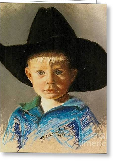 Blanche Guernsey Greeting Cards - Little Cowboy Greeting Card by Blanche Guernsey