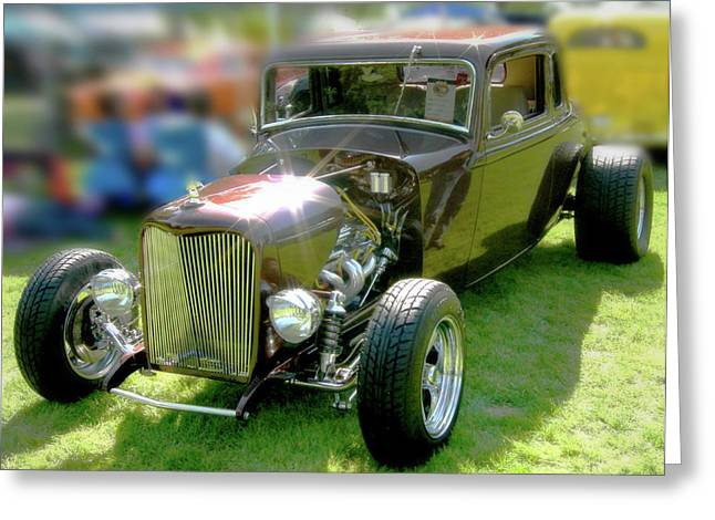 Beachboy Greeting Cards - Little Deuce Coupe In Root Beer Brown Greeting Card by Gary Baird