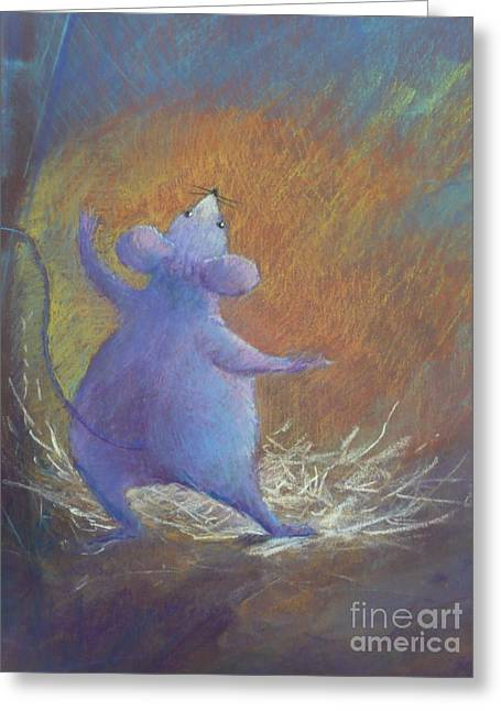 Characters Pastels Greeting Cards - Little Friend Greeting Card by Pamela Pretty