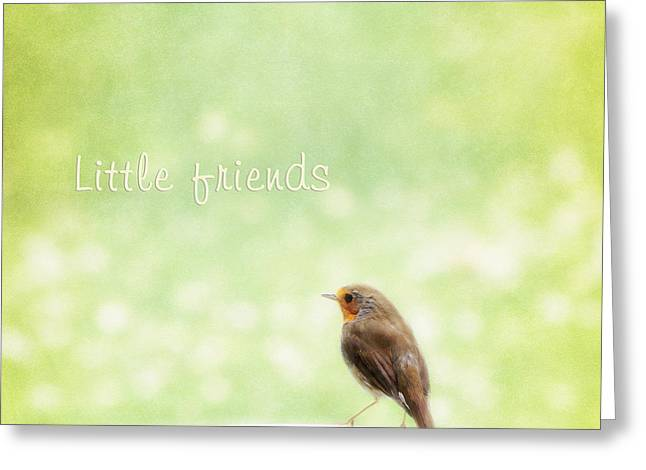 Bokeh Mixed Media Greeting Cards - Little friends Greeting Card by Angela Doelling AD DESIGN Photo and PhotoArt