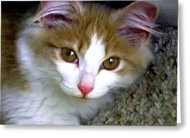 Felines Dale Ford Greeting Cards - Little Girl Greeting Card by Dale   Ford