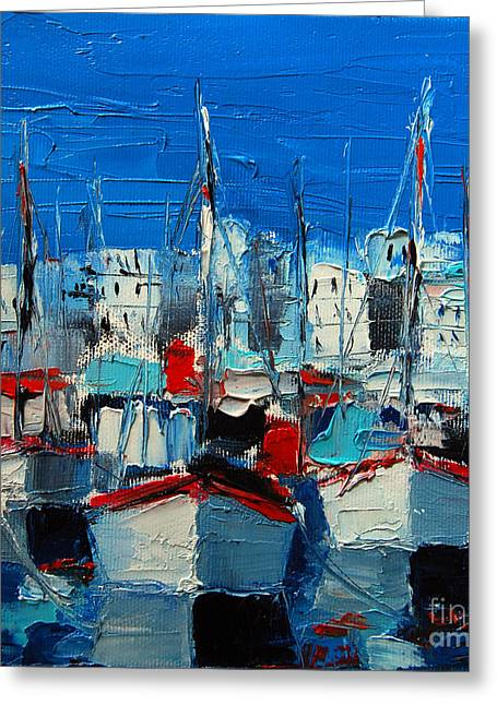 Little Harbor Greeting Card by Mona Edulesco