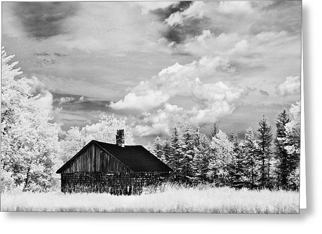 Infared Photography Greeting Cards - Little House on the Prairie Greeting Card by Donna Swiecichowski