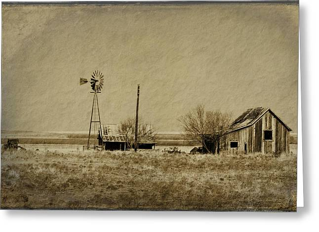 Rural Decay Digital Art Greeting Cards - Little House on the Prairie Greeting Card by Melany Sarafis